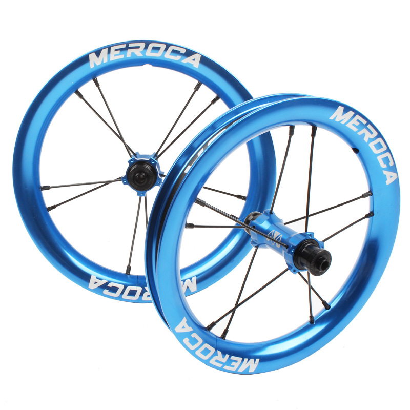 MEROCA Sliding Bike Wheel Set 12 inch wheelset K Bike S Balance Bicycle Modification High Rim circle 2 Bearing Palin Wheels Blue