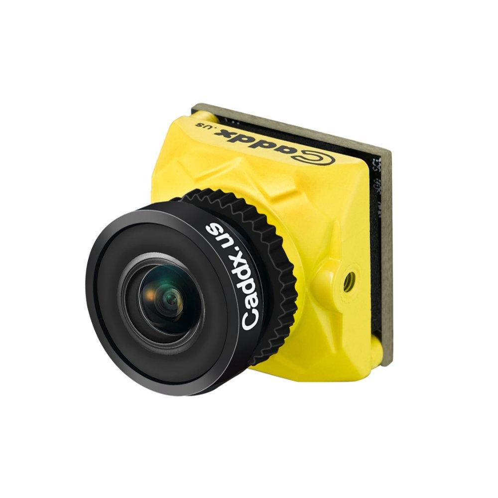Caddx Ratel 1/1.8in Starlight HDR OSD 1200TVL NTSC/PAL 16:9/4:3 Switchable 1.66mm/2.1mm Lens FPV camera for RC Drone Yellow 2.1mm + ND Filter