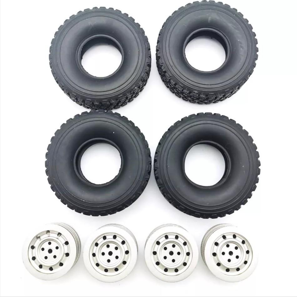 RC Car Wheel Hub for 1/16 WPL C1 C14 C24 C34 B16 B24 B36 JJRC Q60 Q61 Q63 Q65 MN 90 99 Parts Silver