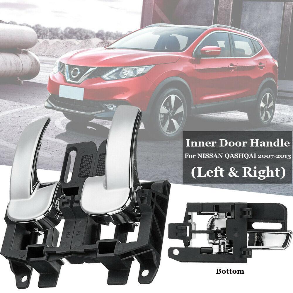 2pcs Car Left Right Door Handle Bowl Cover 80671-JD00E 80670-JD00E Interior Door Handle for Auto Nissan Qashqai 2007-2013