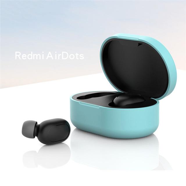 Silicone Protective Cover Earphone Case for Xiaomi Redmi Airdot TWS Bluetooth Earphone Fashion Version Wireless Green