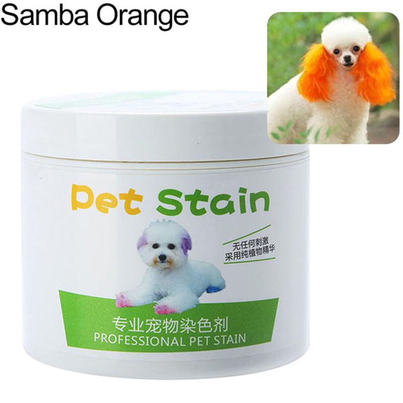 Pet Grooming Hair Color Cream Hairdressing Gel for Dogs Orange