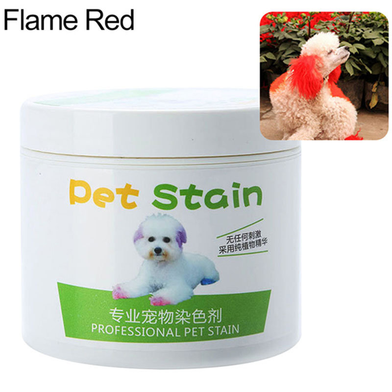 Pet Grooming Hair Color Cream Hairdressing Gel for Dogs Fireworks red