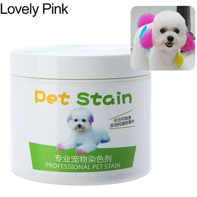 Pet Grooming Hair Color Cream Hairdressing Gel for Dogs Cute pink