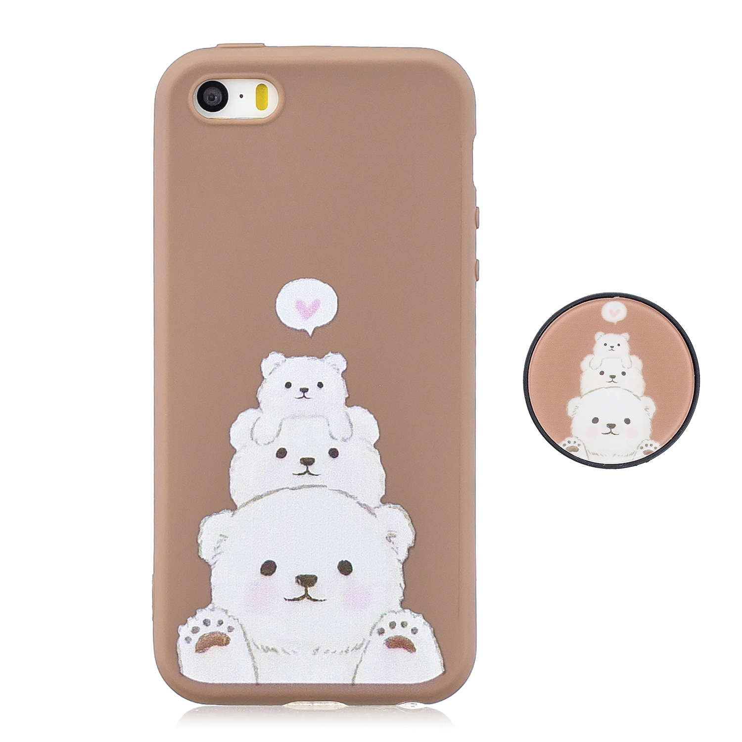 For iPhone 5 5S SE Phone Cases TPU Full Cover Cute Cartoon Painted Case Girls Mobile Phone Cover 3