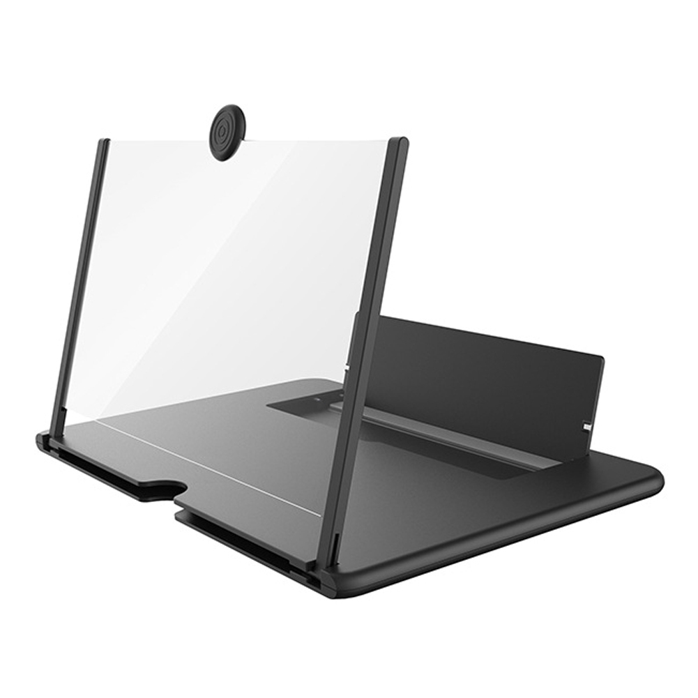 12inch 3D HD Phone Screen Magnifier Eye Protection Movie Phone Holder Foldable Adjustable Angle Non Slip Bracket black_12inch