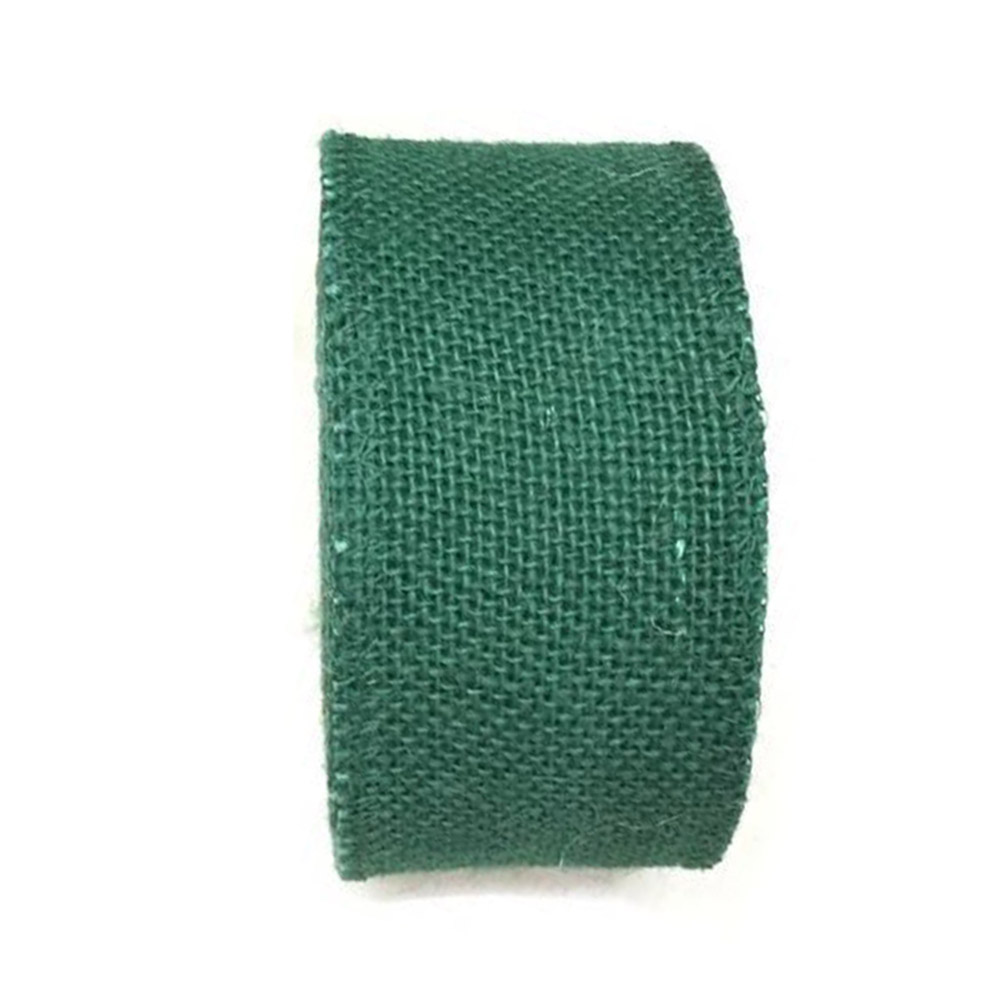 Jute Burlap Ribbon Roll for DIY Party Wedding Cake Holiday Craft Decoration 10m green_6cm