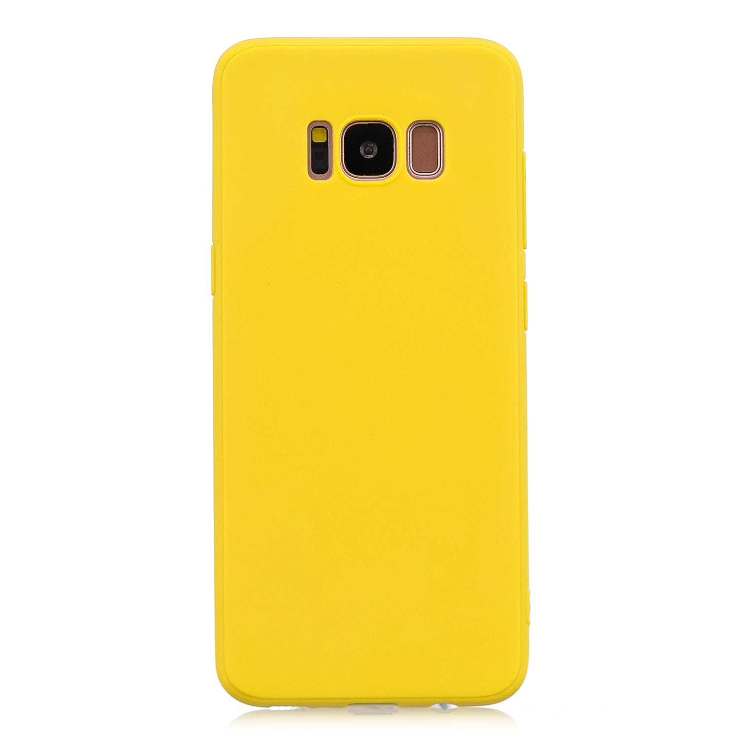 for Samsung S8 Lovely Candy Color Matte TPU Anti-scratch Non-slip Protective Cover Back Case yellow
