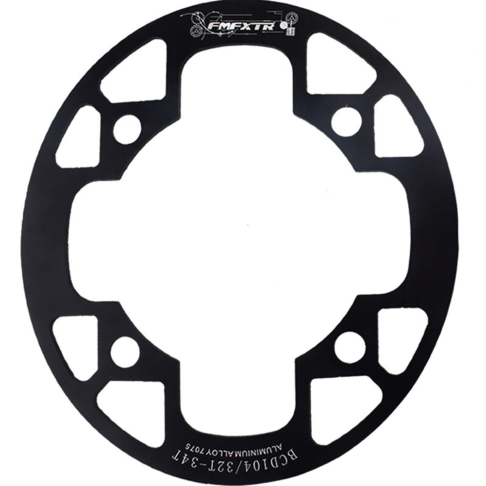 MTB Bike Chainring Protection Cover 32T/34T 36T/38T/40T/42T Bicycle Sprocket Crankset Guard Chainwheel Protector 104bcd oval guard plate 36-38T black
