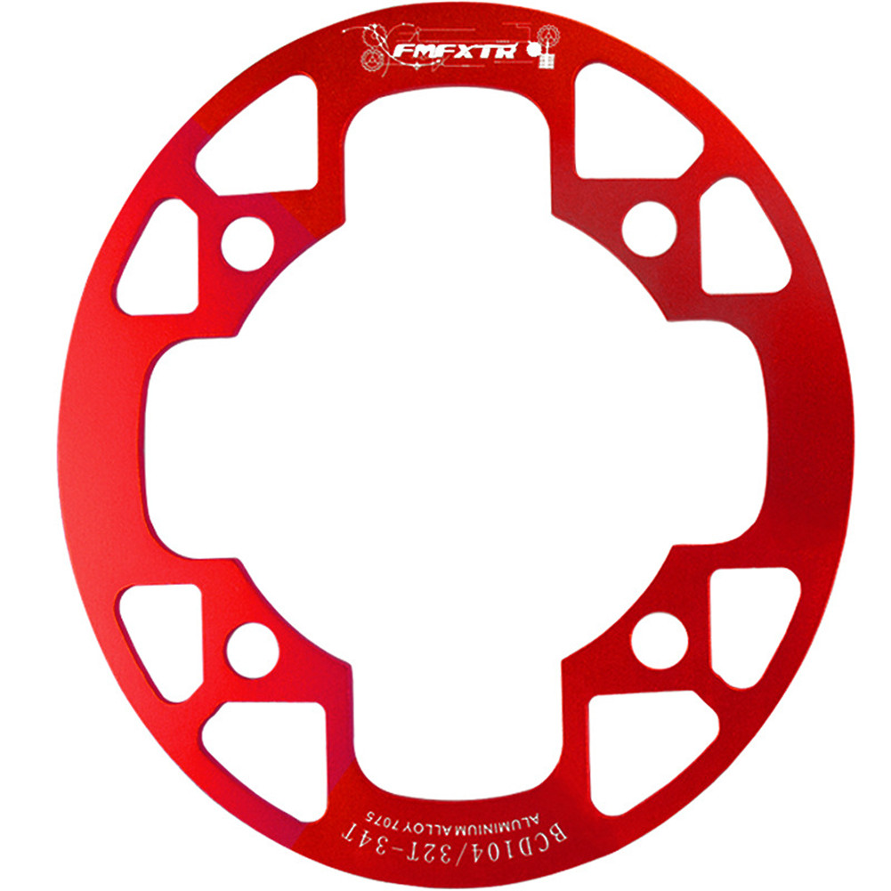 MTB Bike Chainring Protection Cover 32T/34T 36T/38T/40T/42T Bicycle Sprocket Crankset Guard Chainwheel Protector 104bcd oval guard plate 36-38T red