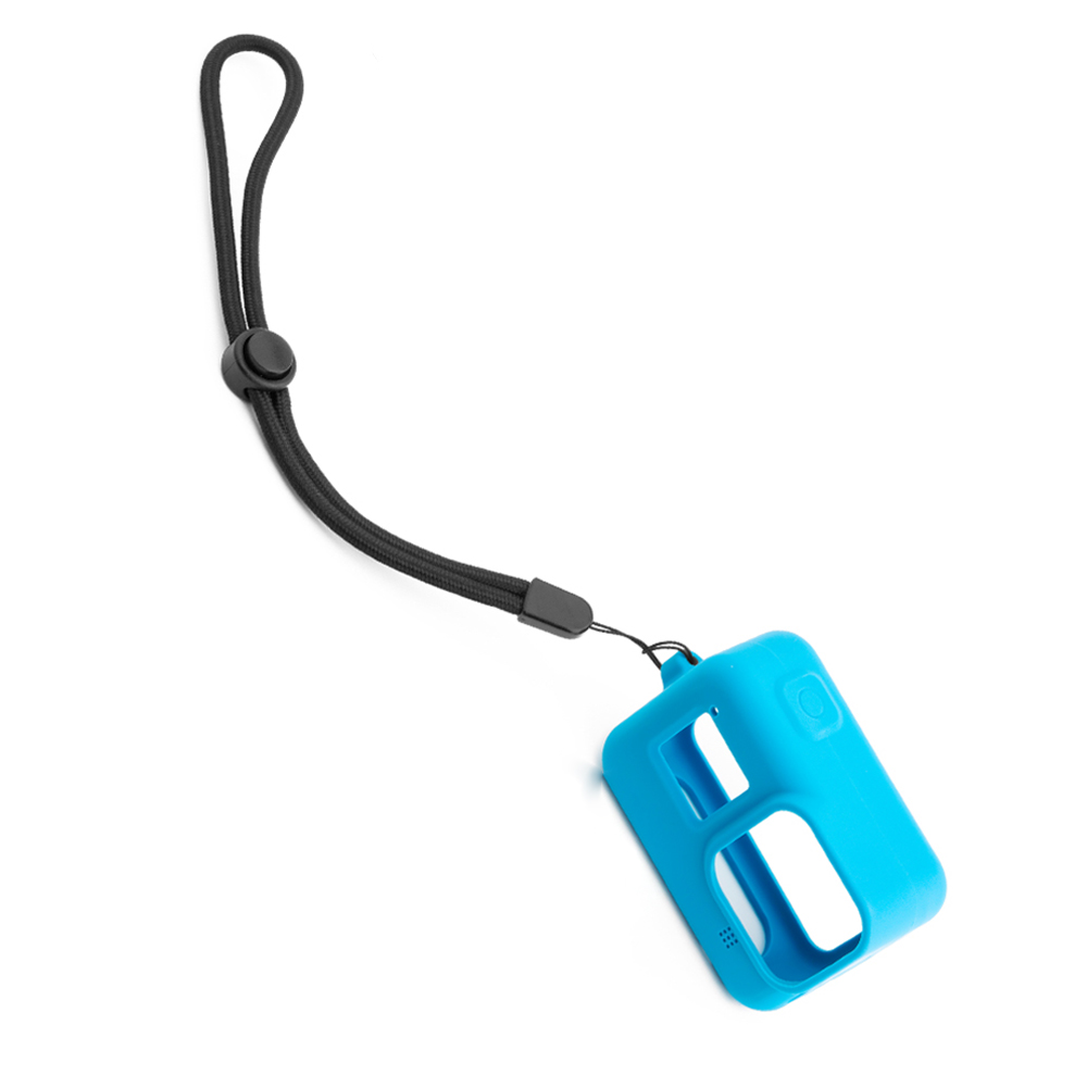 For Gopro Hero 8 Camera Silicone Case Safety Hand Strap Overall Protection Ultra-light Design Anti-fall Shock Absorption blue