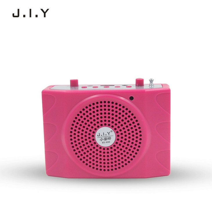 Voice Amplifier Microphone Wired Coaches Bluetooth Speaker Voice Amplifier Megaphone Teaching Guide USB Charging Red European regulations