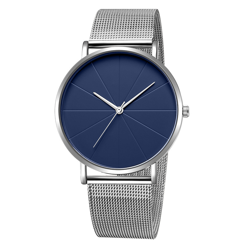 Simple Elegant Fashion Luxury Mesh Belt Quartz Wrist Watch for Women Men Couples