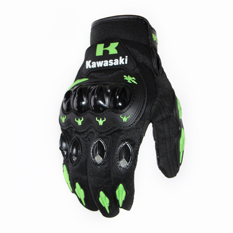 Men Motorcycle Riding Protective  Gloves For  Riders  Bikers green_M