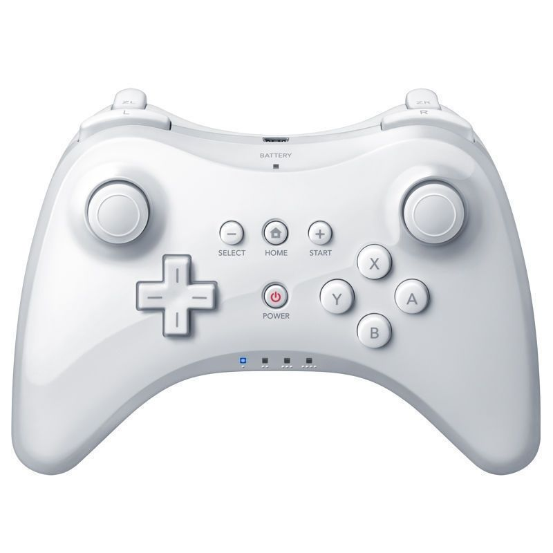 Wireless Classic Pro Controller Joystick Gamepad for Nintend wii U Pro with USB Cable white