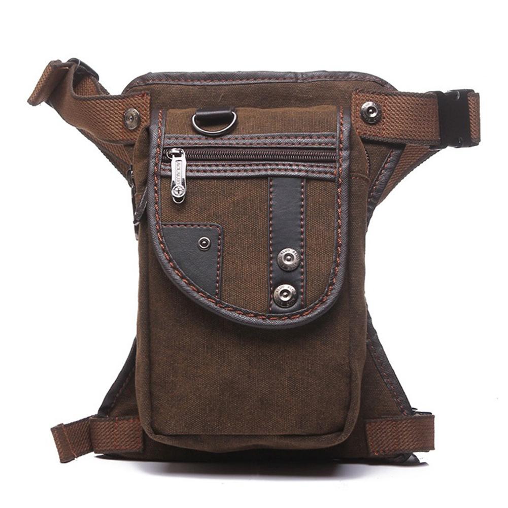 Fashion Canvas Waist Bag Multifunctional Men Messenger Bag for the Office, Traveling etc Photo Color