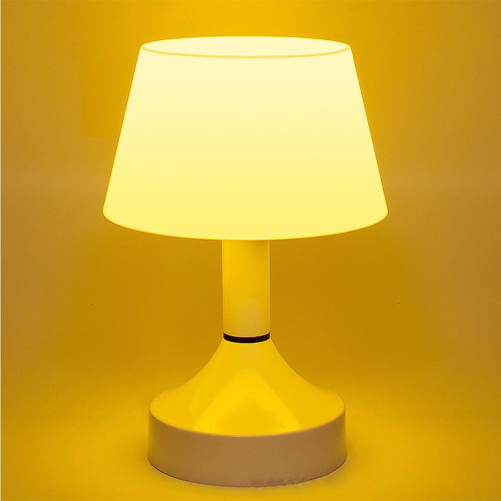 Creative Energy-Saving USB Charging Switch On/Off Night Table Desk Light Lamp Living Room Yellow light