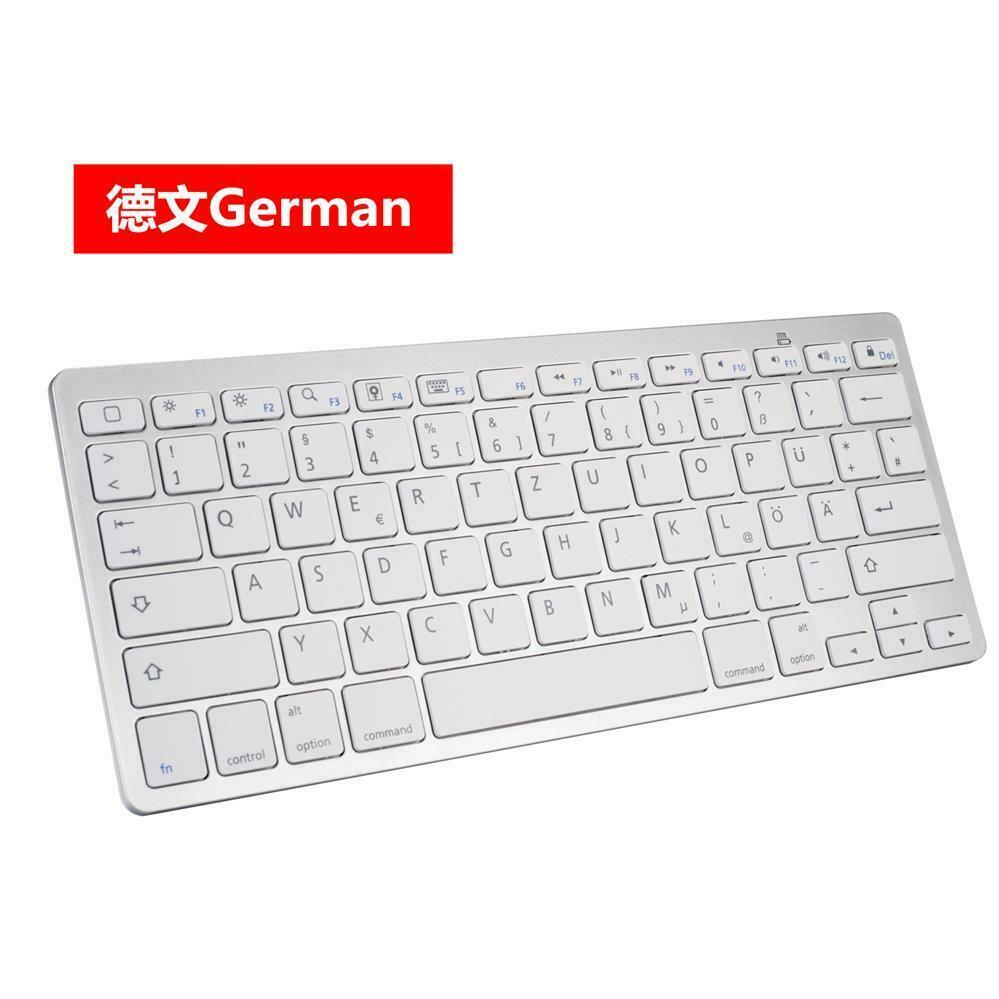 Wireless Bluetooth Keyboard Russian Spanish Universal Mini Ultra Thin Computer Keyboard Portable German