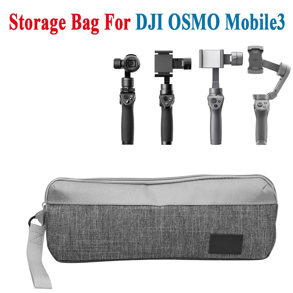 Camera Storage Bag For DJI OSMO Mobile3 Handheld PTZ Handbag Waterproof Carrying Bag Accessories gray