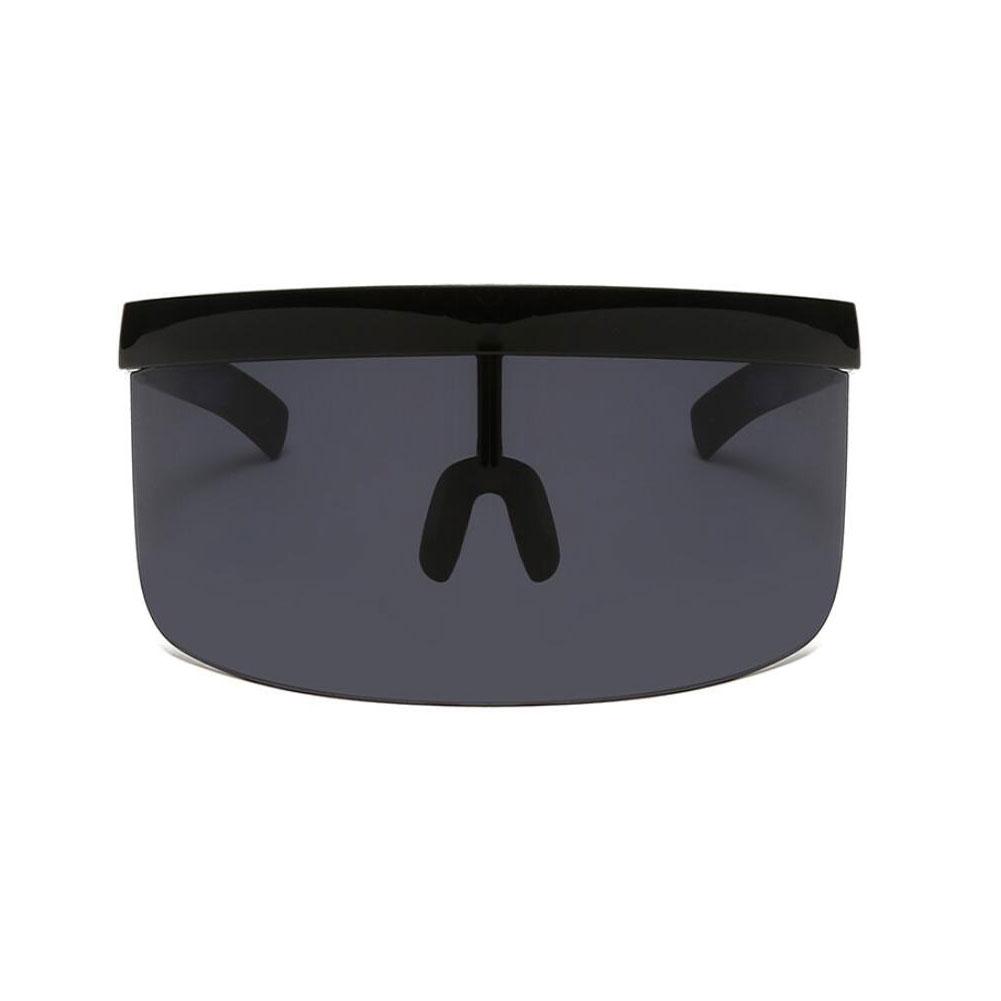 Cycling Sunglasses Oversized Visor Wrap Shield Large Mirror Sun Glasses ant-UV 400 Half Face Shield Guard