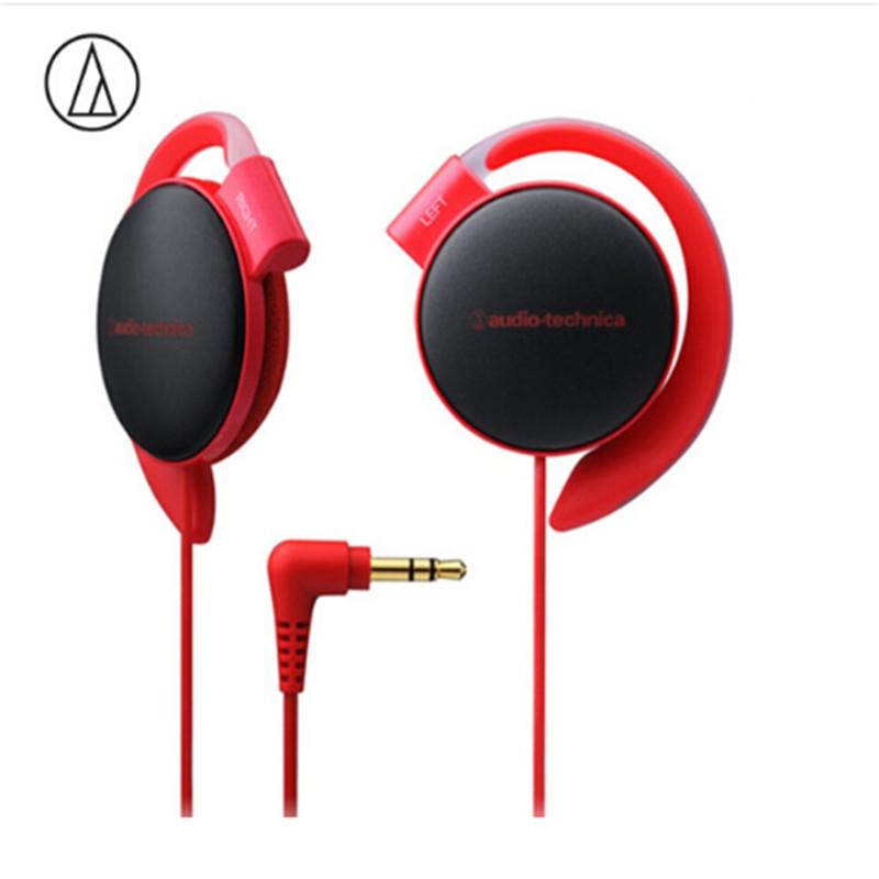 Original Audio Technica ATH-EQ500 Wired Earphone Music Headset Ear Hook Sport Headphone Surround Bass For Xiaomi Huawei Oppo Etc Red