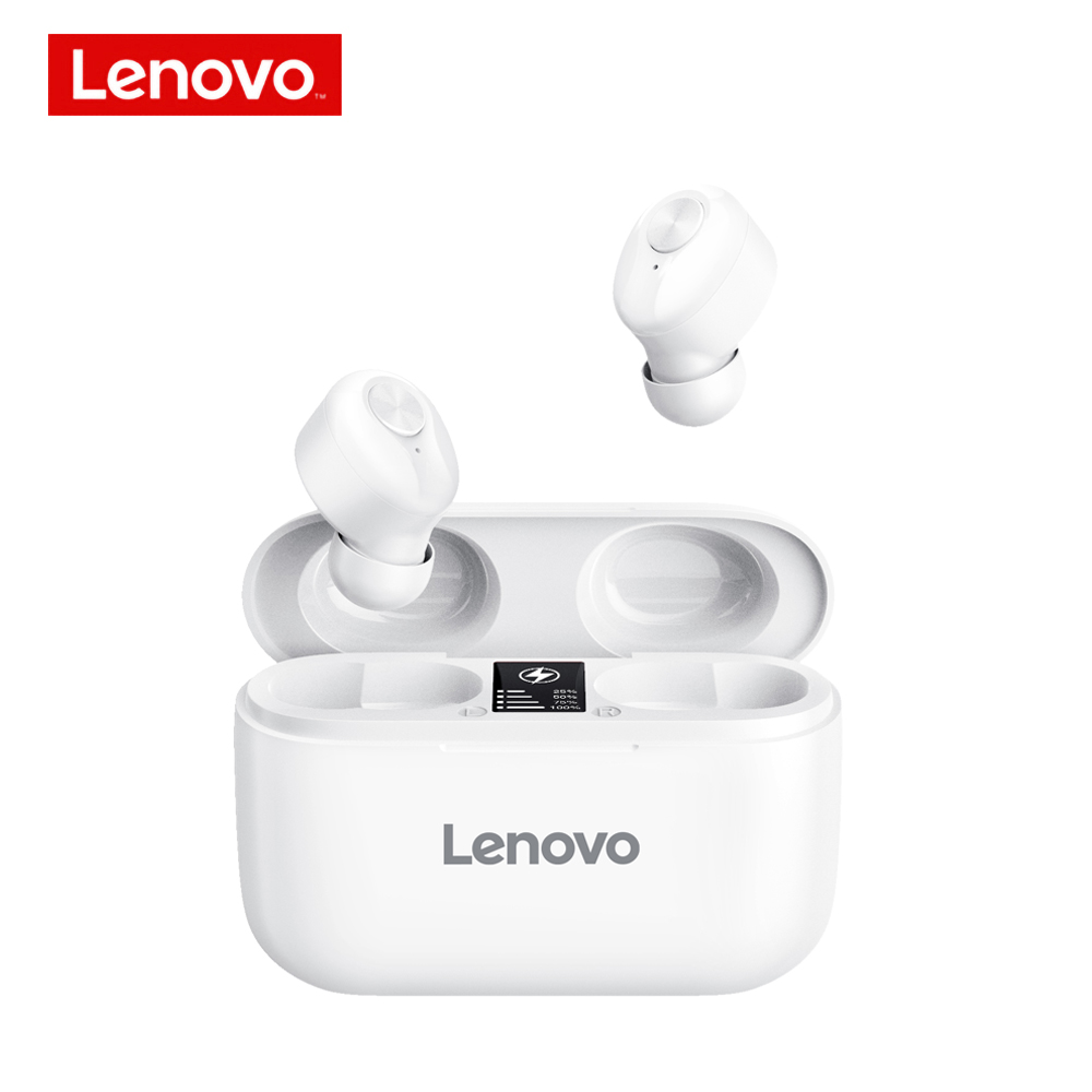 Original LENOVO Ht18 Bluetooth Headphone Tws Wireless Noise Reduction Sports In-ear Headset white