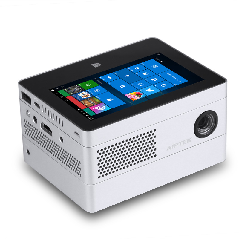 Фото #1: AIPTEK Windows 10 Mini Projector - DLP, 400 Lumen, Quad-Core CPU, 2GB RAM, 4.5-Inch Display, WiFi, 1