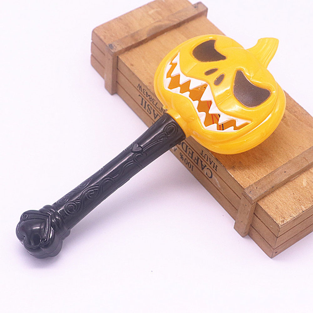 Halloween Pumpkin Ghost Magic Wand Luminous Witch Wand Funny Horror Scene Layout Children Toys White tooth pumpkin magic wand