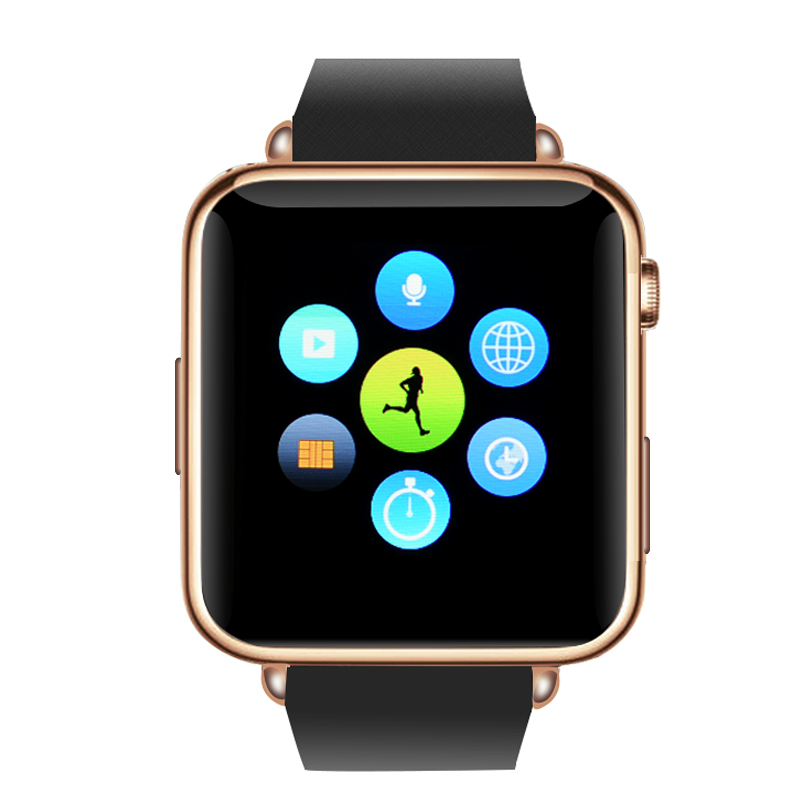Bluetooth Mobile Phone Watch  (RoseGold)