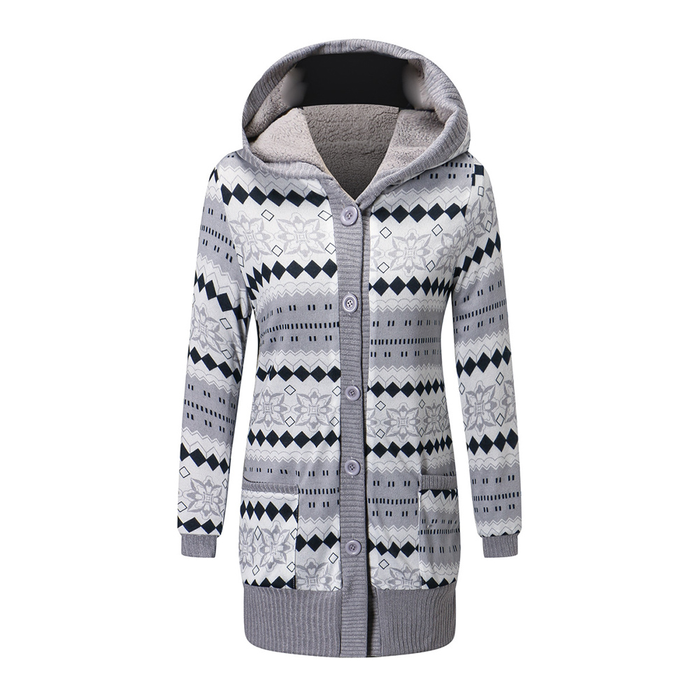 Casual Winter Thickening Jacket light Grey L