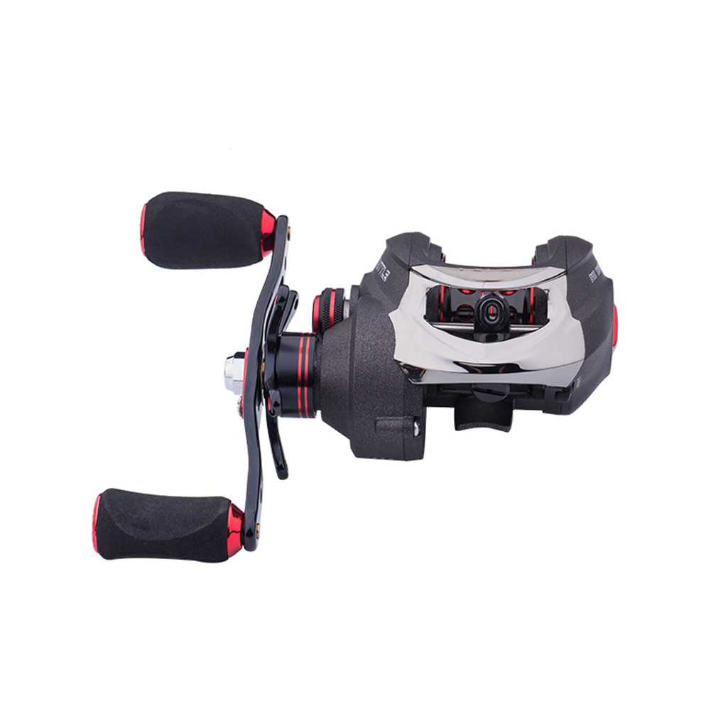 16BB 7.0:1 Surf Fishing Baitcasting Reel L/R Handle Saltwater Bait Casting Reel Metal Spool Reel DM120RB-SS (right hand)