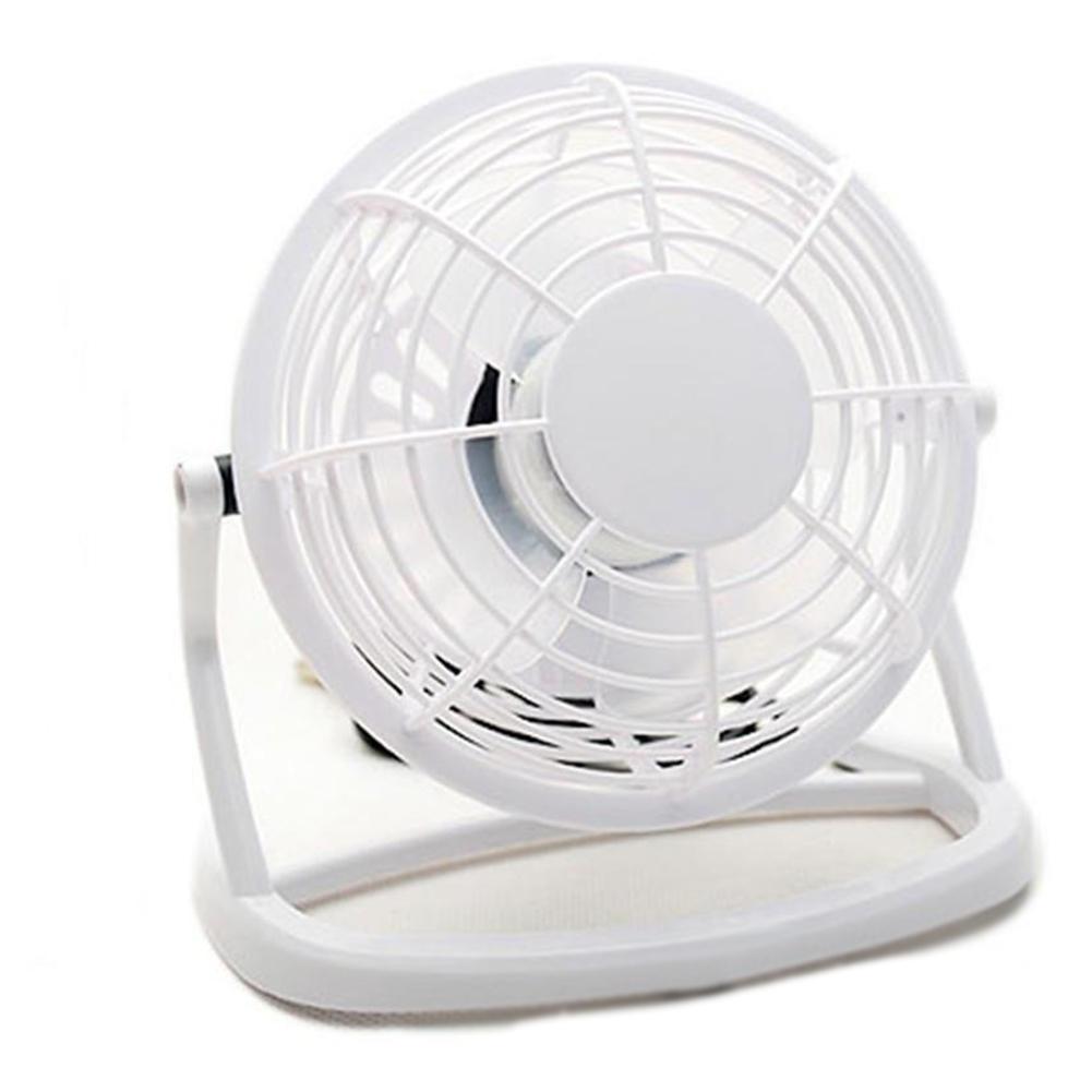 4Inches Mini 360 Degree USB Mute Low Voltage Fan white_16*10*16