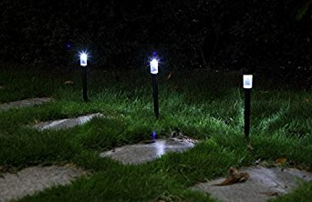 Urparcel 6Pcs Outdoor Solar Power Rechargeable LED Path Way Wall Landscape Mount Garden Fence Lamp Light