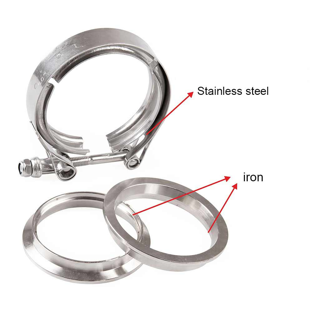 3'' Inch SS304 V-Band Clamp Set Stainless Steel M/F 3v Band Turbo Exhaust Downpipe