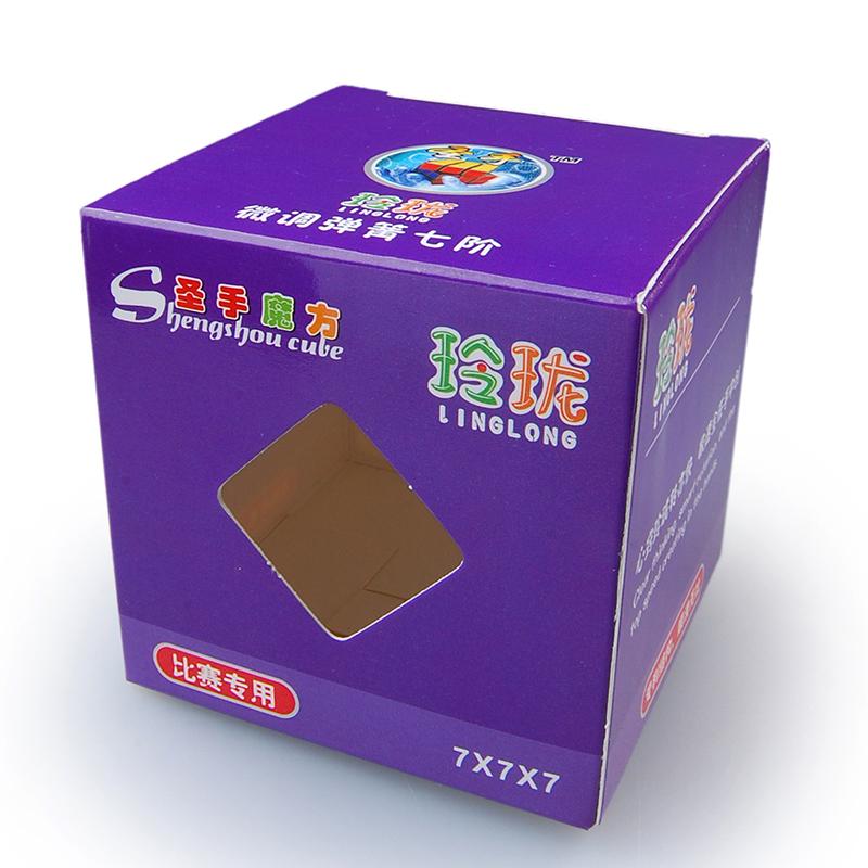 [US Direct] Shengshou 7x7 Linglong 69mm,mini 7x7x7 White Speed Cube Puzzle
