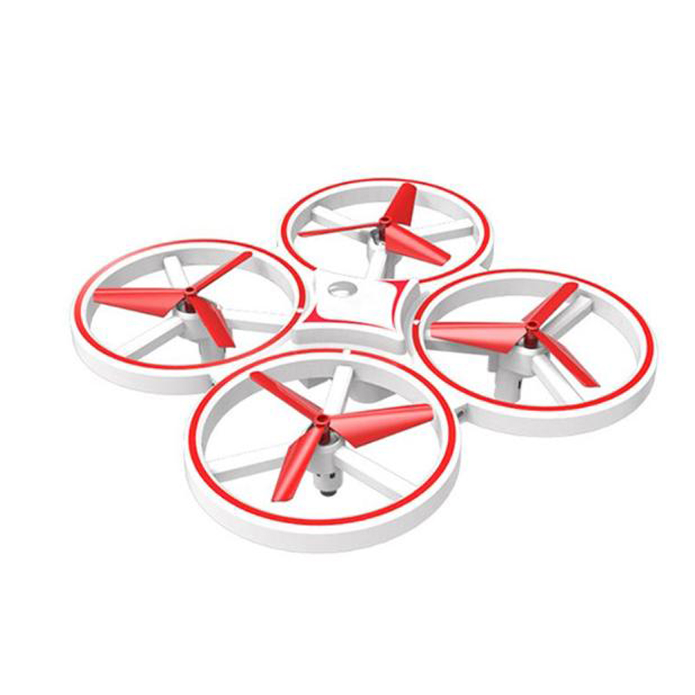 Induction Suspension Four-axis RC Aircraft with Gesture Control Toy for Kids white