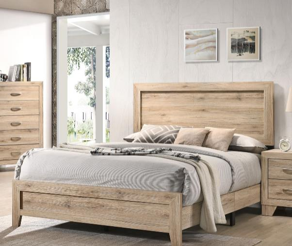 [US Direct] ACME Miquell Queen Bed, Natural 28040Q