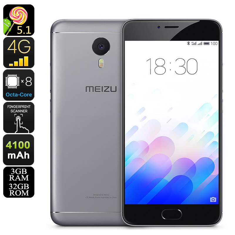Meizu M3 Note 32GB Android Phone (Gray)