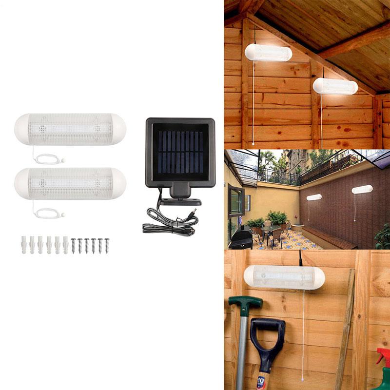 Split Type 5 LED Solar Light, Pack of 2 Solar Powered Night Lamp, Outdoor Garden Lights For Home Corridor Stairs