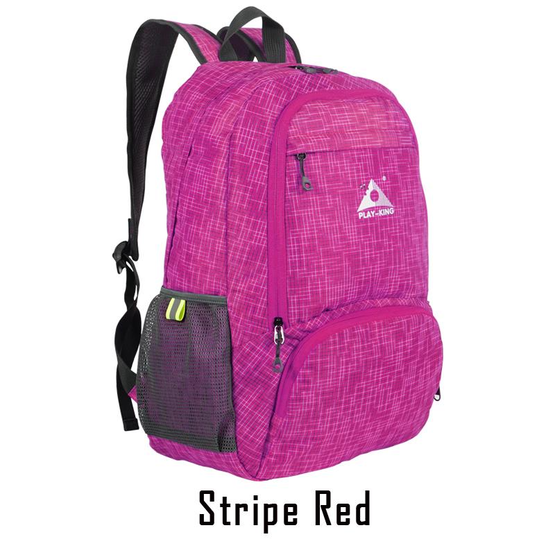 Foldable Waterproof Backpack Outdoor Travel Folding Lightweight Bag Bag Sport Hiking Gym Mochila Camping Trekking rose Red