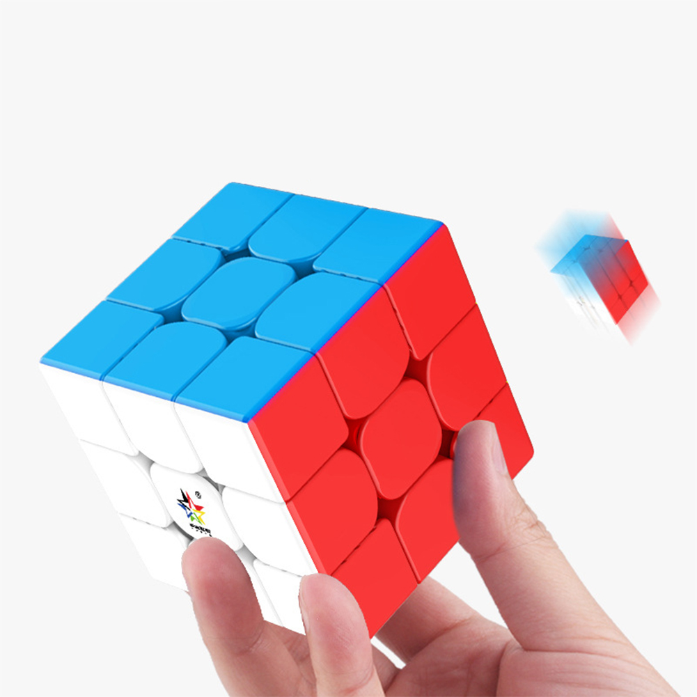 3x3 Magic Cube Magnetic Cube Smooth Rotating Educational Puzzle Toy for Kids Adults color
