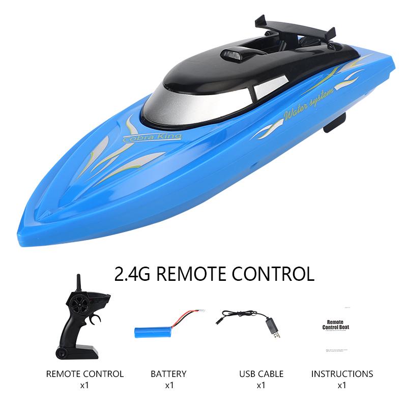 RC Alligator Head 2.4G Remote Control RC Boat Joke Prank Maker Fun Simulation Spoof Children Toys Halloween Decor blue_B801