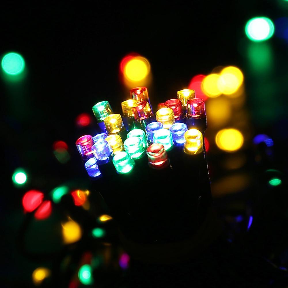 12M/22M 100LEDs/200LEDs Waterproof Solar Powered String Light for Deocration Color light_12 meters 100 LED_(ME0003504)