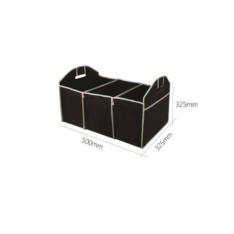 Storage  Box Car Trunk Organizer Folding Sturdy Robust Car Storage Box Car Boot Organiser Shopping Tidy Collapsible Space Saving Storage Box black