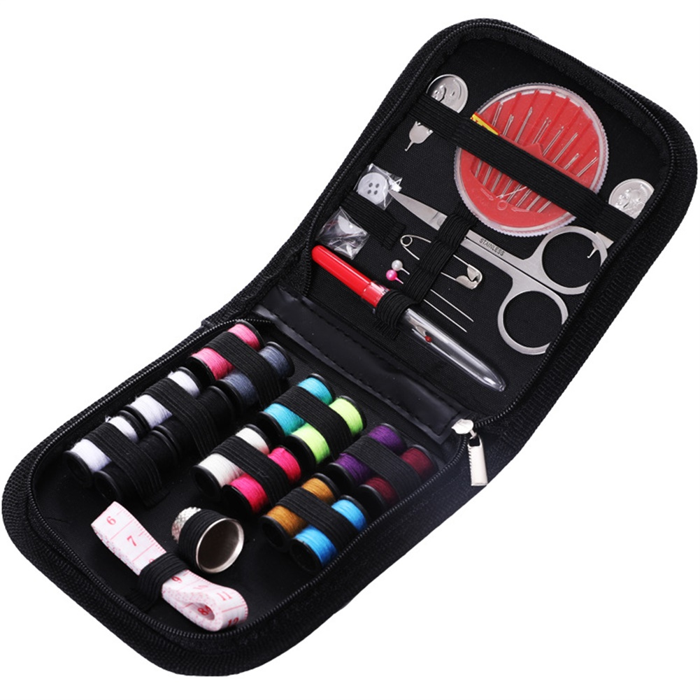 27pcs Compact  Sewing  Kit For  Home  Travel  Camping  Emergency Mini Sew  Supplies  Set Pins Safety  Pins as picture show