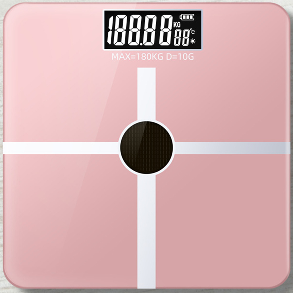 Light Energy Charging Household Electronic Scale Body Weight Health Scales  6038 Cross Rose Gold Light Energy_28 * 28 solar charging