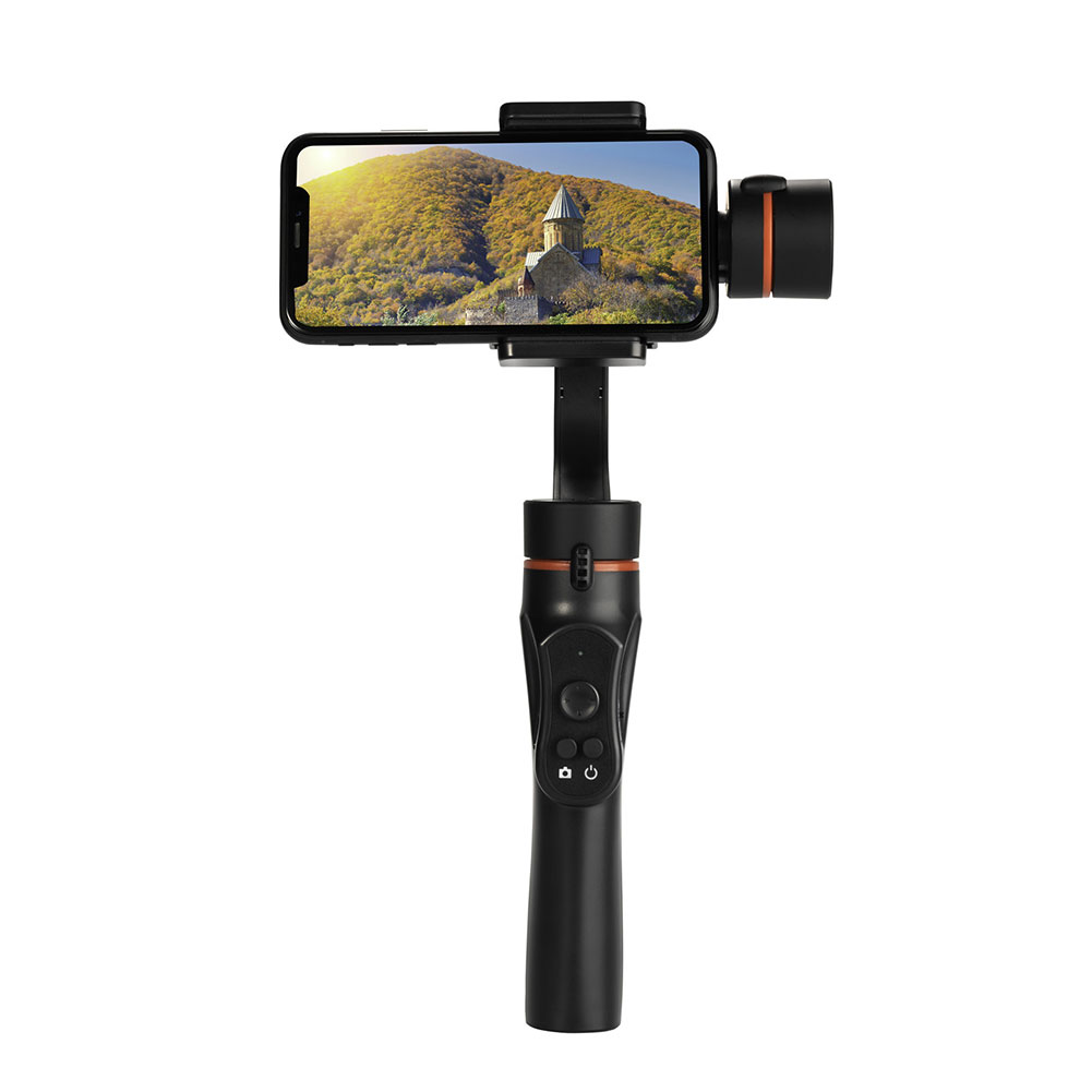 Three-Axis Handheld Smartphone Gimbal Stabilizer Mobile Phone Balancer Counterweight Photography black