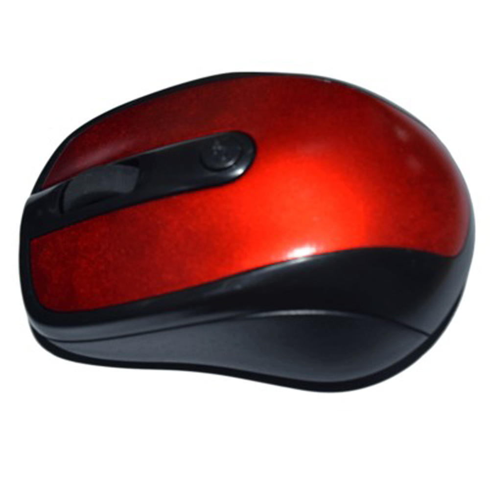 2.4GHz Wireless Optical Mouse Mice & USB Receiver for PC Laptop Computer  red