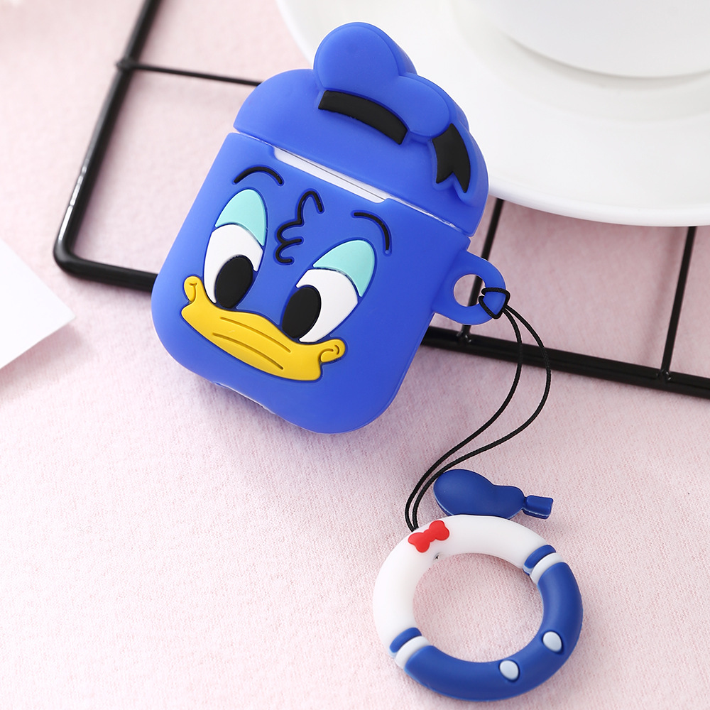 Cartoon Silicone Soft Shell Protective Case for IOS Airpods Wireless Bluetooth Headset Charging Box 7#