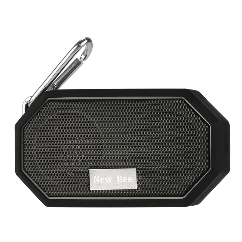 Mini Bluetooth Speaker - 3W Audio Driver, Bluetooth 4.0, IP66 Waterproof, 10m Range, 500mAh, 3.5mm Audio Jack